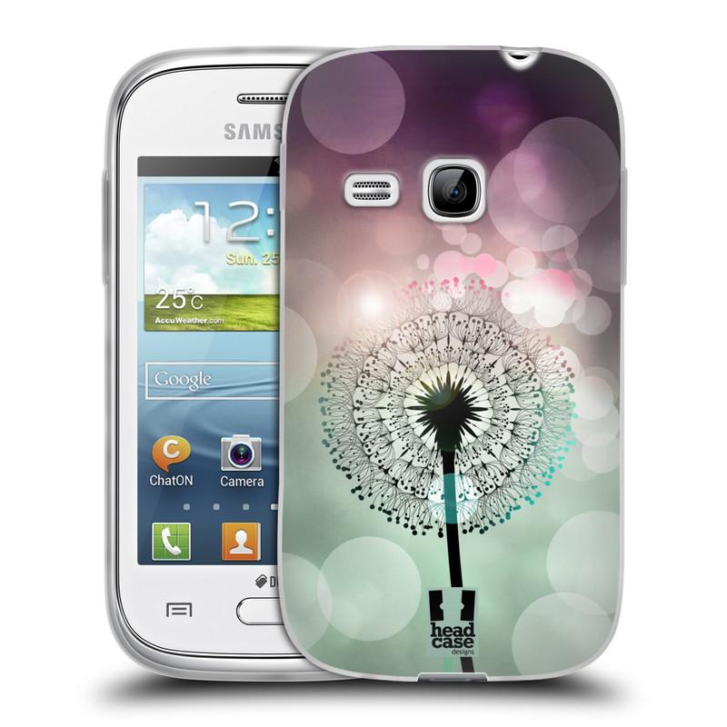 Silikonové pouzdro na mobil Samsung Galaxy Young HEAD CASE Pampeliškové odlesky (Silikonový kryt či obal na mobilní telefon Samsung Galaxy Young GT-S6310)