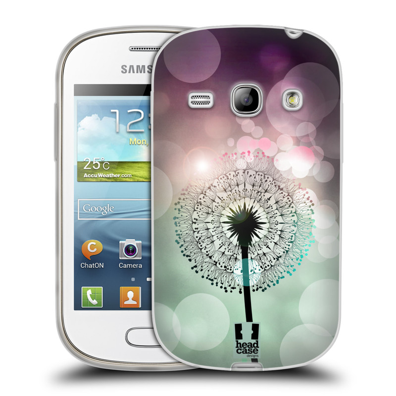 Silikonové pouzdro na mobil Samsung Galaxy Fame HEAD CASE Pampeliškové odlesky (Silikonový kryt či obal na mobilní telefon Samsung Galaxy Fame GT-S6810)