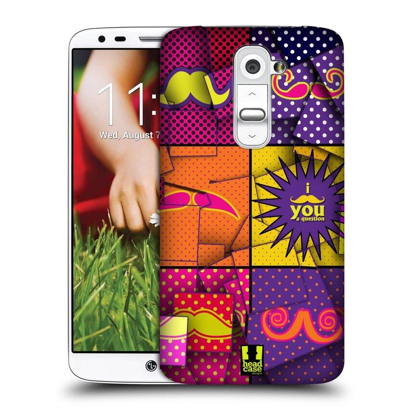 Plastové pouzdro na mobil LG G2 HEAD CASE POP ART KNÍRY (Kryt či obal na mobilní telefon LG G2 D802)