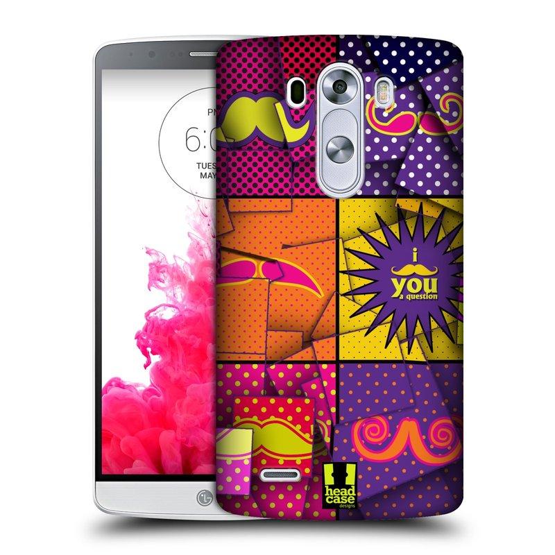 Plastové pouzdro na mobil LG G3 HEAD CASE POP ART KNÍRY (Kryt či obal na mobilní telefon LG G3 D855)