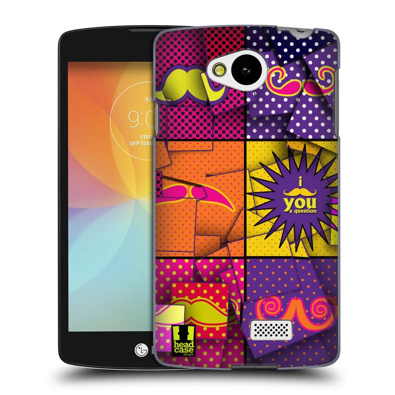 Plastové pouzdro na mobil LG F60 HEAD CASE POP ART KNÍRY (Kryt či obal na mobilní telefon LG F60 D390n)
