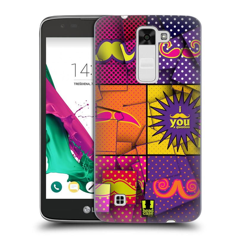 Plastové pouzdro na mobil LG K7 HEAD CASE POP ART KNÍRY (Kryt či obal na mobilní telefon LG K7)