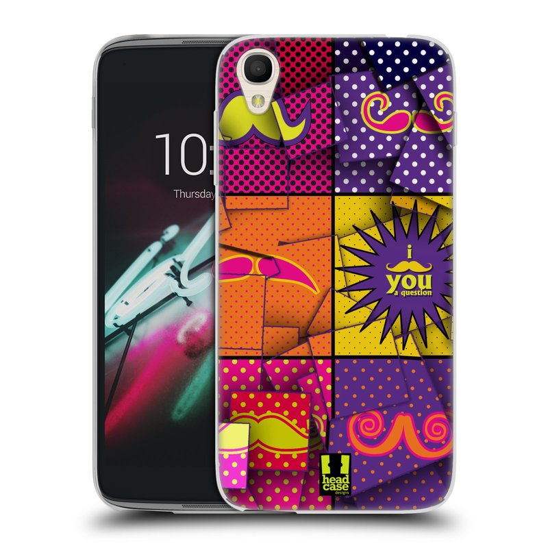 "Silikonové pouzdro na mobil Alcatel One Touch 6039Y Idol 3 HEAD CASE POP ART KNÍRY (Silikonový kryt či obal na mobilní telefon Alcatel One Touch Idol 3 OT-6039Y s 4,7"" displejem)"