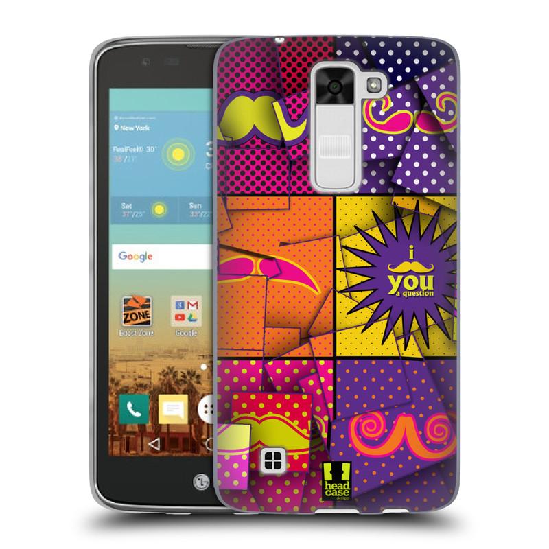 Silikonové pouzdro na mobil LG K7 HEAD CASE POP ART KNÍRY (Silikonový kryt či obal na mobilní telefon LG K7)