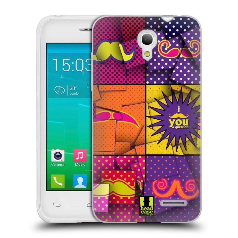 Silikonové pouzdro na mobil Alcatel One Touch Pop S3 HEAD CASE POP ART KNÍRY (Silikonový kryt či obal na mobilní telefon Alcatel OT- 5050Y POP S3)