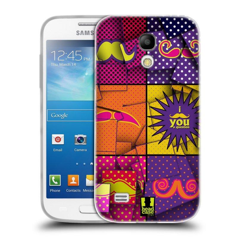 Silikonové pouzdro na mobil Samsung Galaxy S4 Mini VE HEAD CASE POP ART KNÍRY (Silikonový kryt či obal na mobilní telefon Samsung Galaxy S4 Mini VE GT-i9195i (nepasuje na verzi Black Edition))