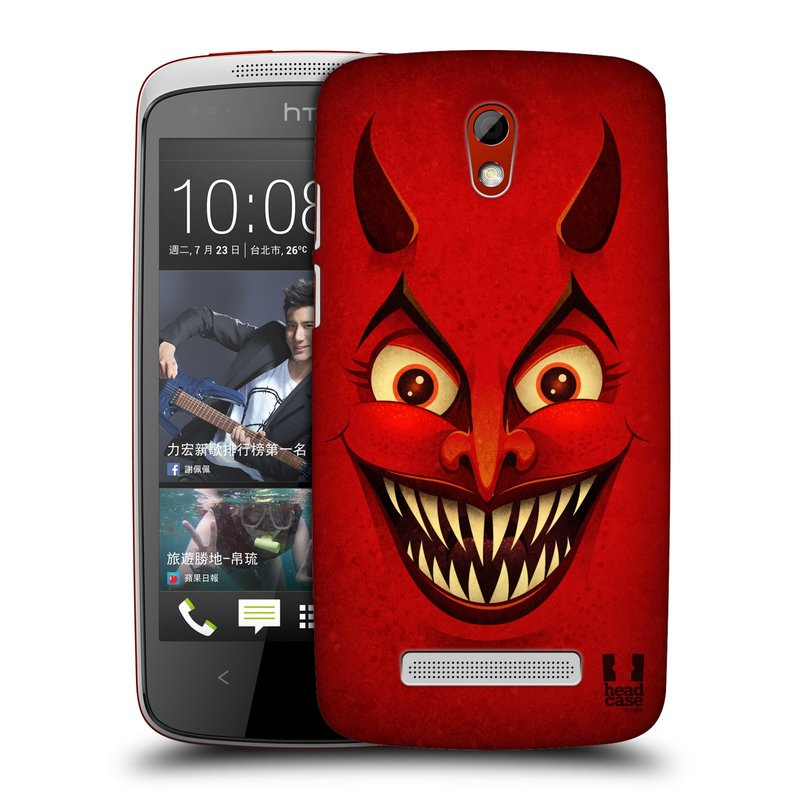 Plastové pouzdro na mobil HTC Desire 500 HEAD CASE ČERT (Kryt či obal na mobilní telefon HTC Desire 500)