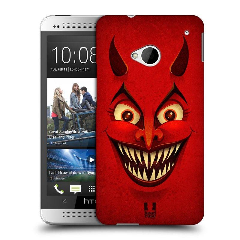 Plastové pouzdro na mobil HTC ONE M7 HEAD CASE ČERT (Kryt či obal na mobilní telefon HTC ONE M7)