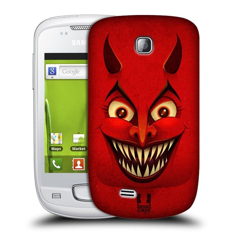 Plastové pouzdro na mobil Samsung Galaxy Mini HEAD CASE ČERT (Kryt či obal na mobilní telefon Samsung Galaxy Mini GT-S5570 / GT-S5570i)