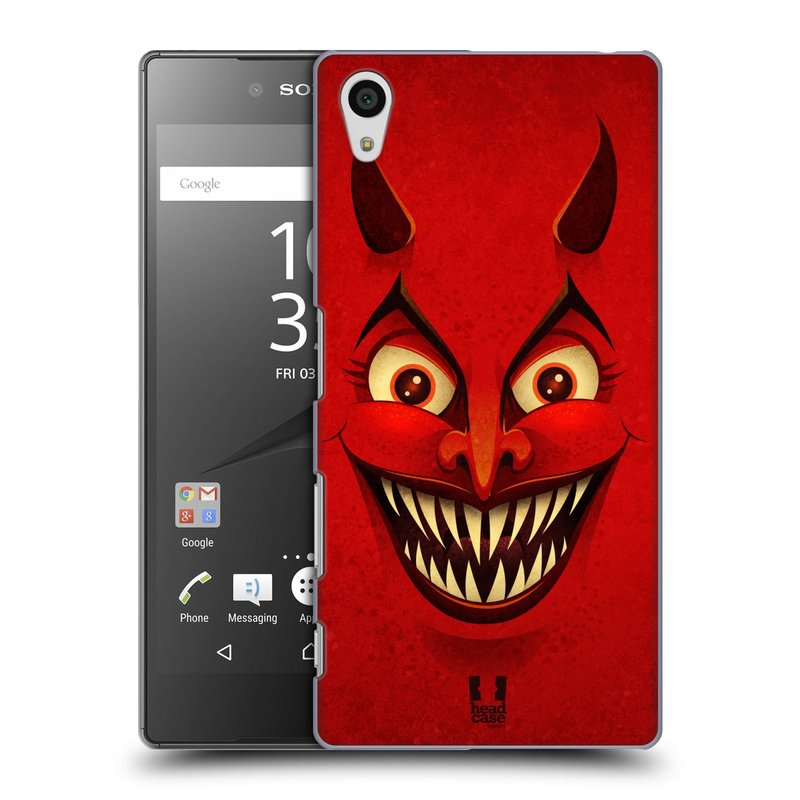 Plastové pouzdro na mobil Sony Xperia Z5 HEAD CASE ČERT (Kryt či obal na mobilní telefon Sony Xperia Z5 E6653)