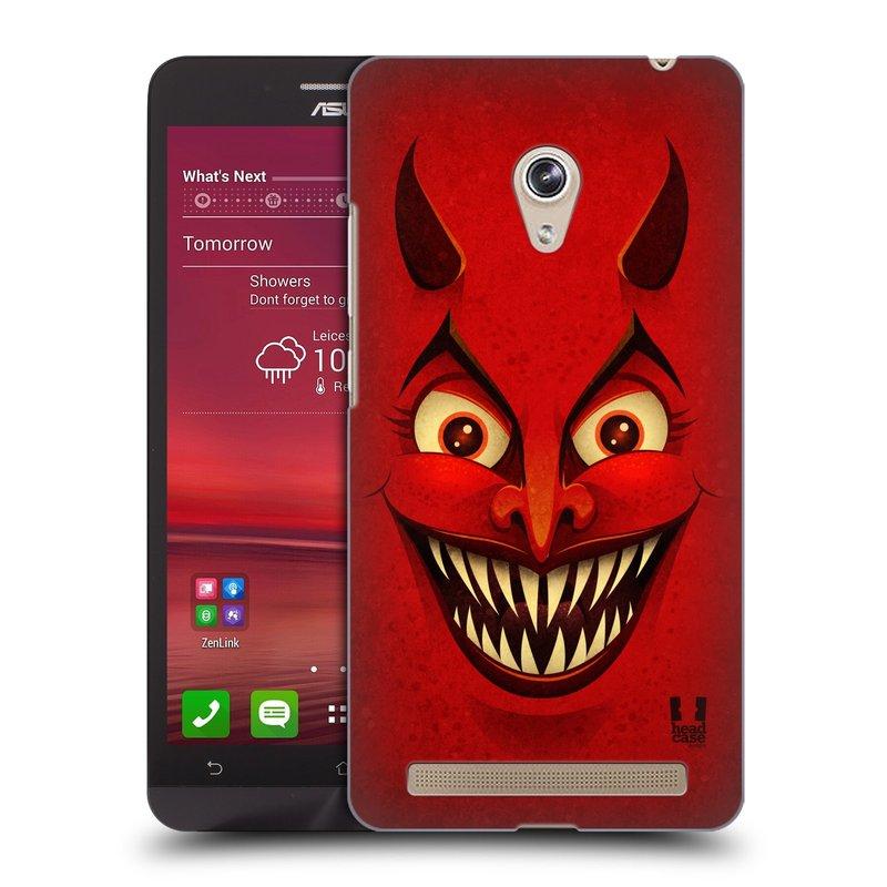 Plastové pouzdro na mobil Asus Zenfone 6 HEAD CASE ČERT (Kryt či obal na mobilní telefon Asus Zenfone 6 A600CG / A601CG)