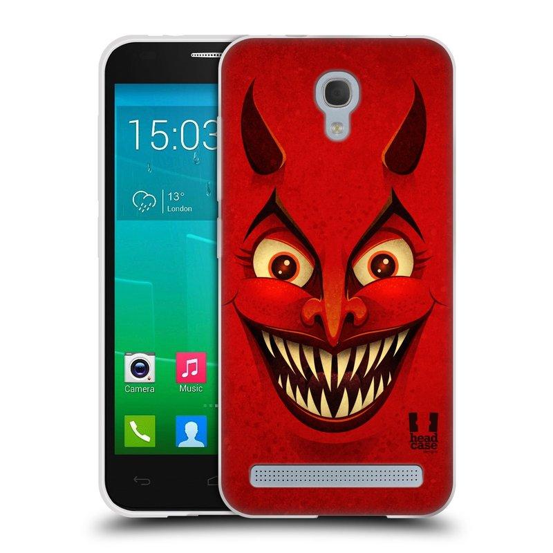Silikonové pouzdro na mobil Alcatel One Touch Idol 2 Mini S 6036Y HEAD CASE ČERT (Silikonový kryt či obal na mobilní telefon Alcatel Idol 2 Mini S OT-6036Y)