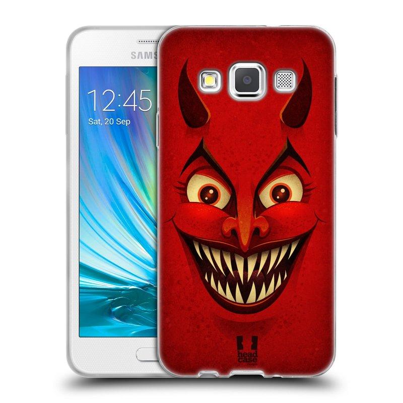 Silikonové pouzdro na mobil Samsung Galaxy A3 HEAD CASE ČERT (Silikonový kryt či obal na mobilní telefon Samsung Galaxy A3 SM-A300)