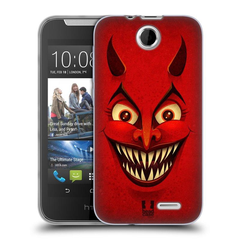 Silikonové pouzdro na mobil HTC Desire 310 HEAD CASE ČERT (Silikonový kryt či obal na mobilní telefon HTC Desire 310)
