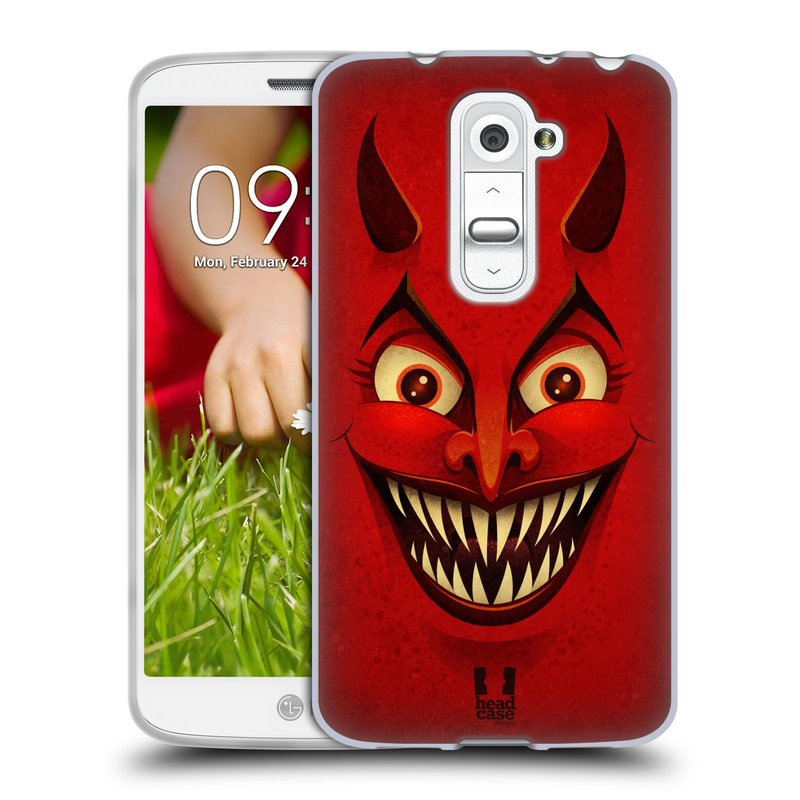 Silikonové pouzdro na mobil LG G2 Mini HEAD CASE ČERT (Silikonový kryt či obal na mobilní telefon LG G2 Mini D620)