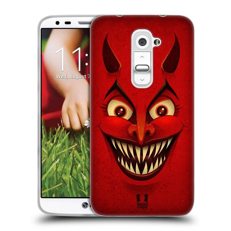 Silikonové pouzdro na mobil LG G2 HEAD CASE ČERT (Silikonový kryt či obal na mobilní telefon LG G2 D802)