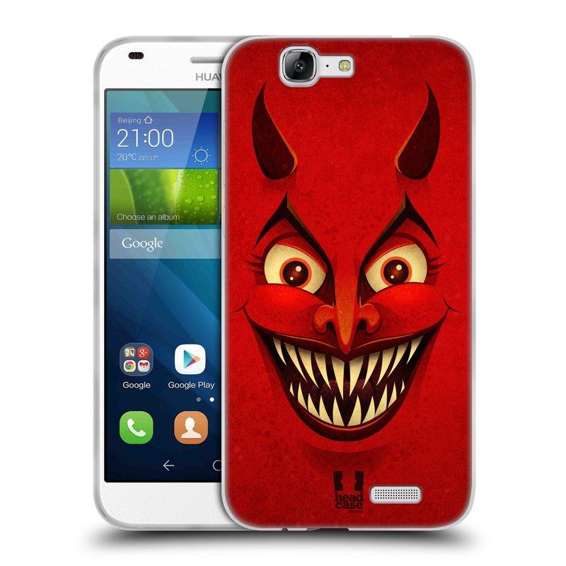 Silikonové pouzdro na mobil Huawei Ascend G7 HEAD CASE ČERT (Silikonový kryt či obal na mobilní telefon Huawei Ascend G7)