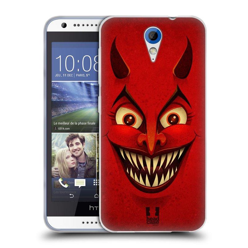 Silikonové pouzdro na mobil HTC Desire 620 HEAD CASE ČERT (Silikonový kryt či obal na mobilní telefon HTC Desire 620)