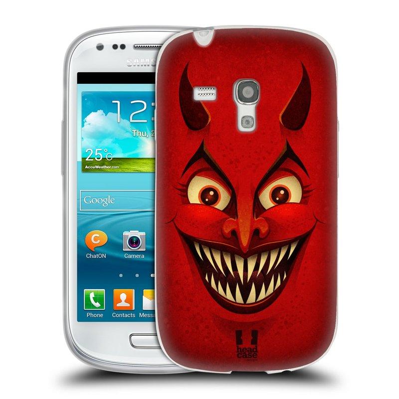 Silikonové pouzdro na mobil Samsung Galaxy S3 Mini VE HEAD CASE ČERT (Silikonový kryt či obal na mobilní telefon Samsung Galaxy S3 Mini VE GT-i8200)