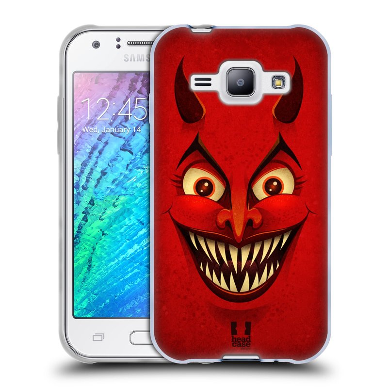 Silikonové pouzdro na mobil Samsung Galaxy J1 HEAD CASE ČERT (Silikonový kryt či obal na mobilní telefon Samsung Galaxy J1 a J1 Duos)