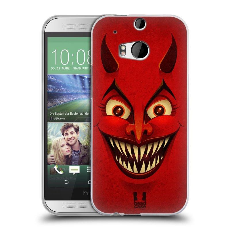 Silikonové pouzdro na mobil HTC ONE M8 HEAD CASE ČERT (Silikonový kryt či obal na mobilní telefon HTC ONE M8)