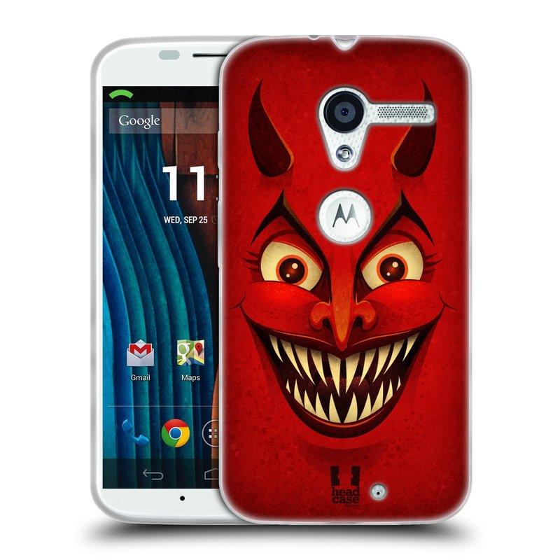 Silikonové pouzdro na mobil Motorola Moto X HEAD CASE ČERT (Silikonový kryt či obal na mobilní telefon Motorola Moto X)