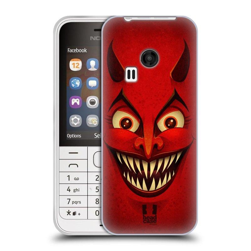 Silikonové pouzdro na mobil Nokia 220 HEAD CASE ČERT (Silikonový kryt či obal na mobilní telefon Nokia 220 a 220 Dual SIM)