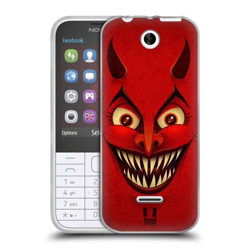 Silikonové pouzdro na mobil Nokia 225 HEAD CASE ČERT (Silikonový kryt či obal na mobilní telefon Nokia 225)
