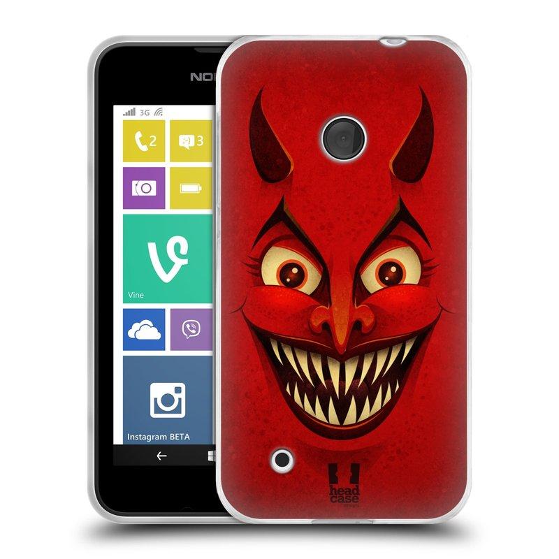 Silikonové pouzdro na mobil Nokia Lumia 530 HEAD CASE ČERT (Silikonový kryt či obal na mobilní telefon Nokia Lumia 530)
