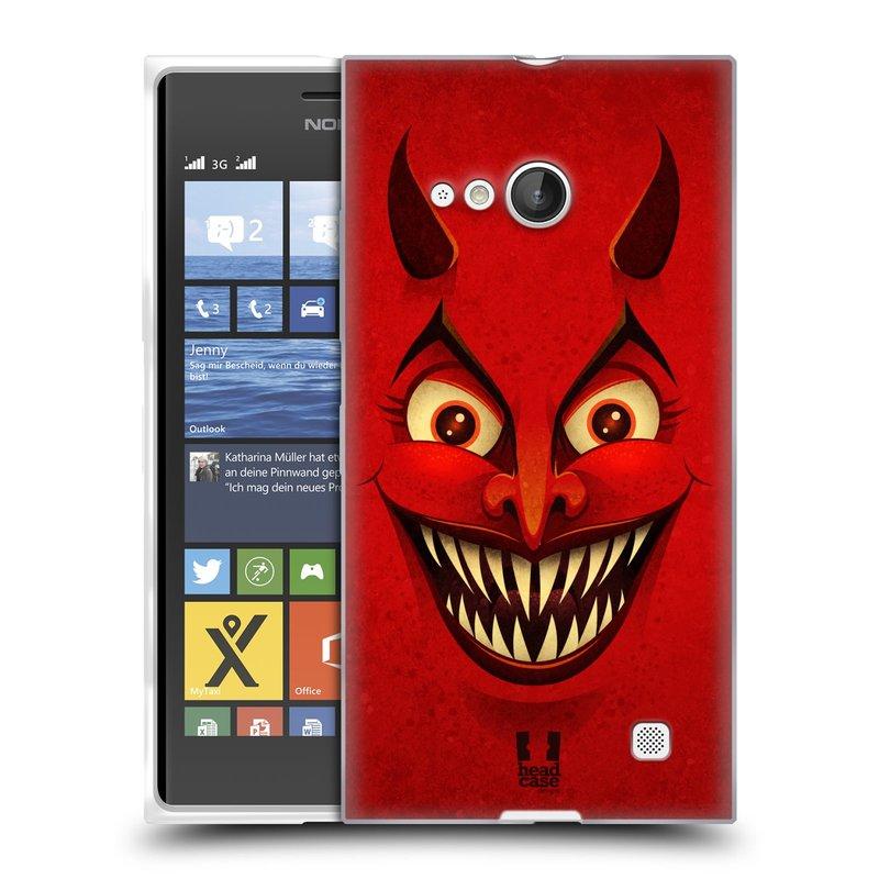Silikonové pouzdro na mobil Nokia Lumia 730 Dual SIM HEAD CASE ČERT (Silikonový kryt či obal na mobilní telefon Nokia Lumia 730 Dual SIM)
