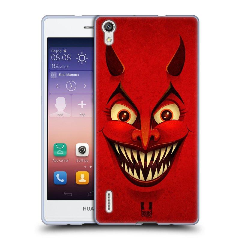 Silikonové pouzdro na mobil Huawei P7 HEAD CASE ČERT (Silikonový kryt či obal na mobilní telefon Huawei Ascend P7)
