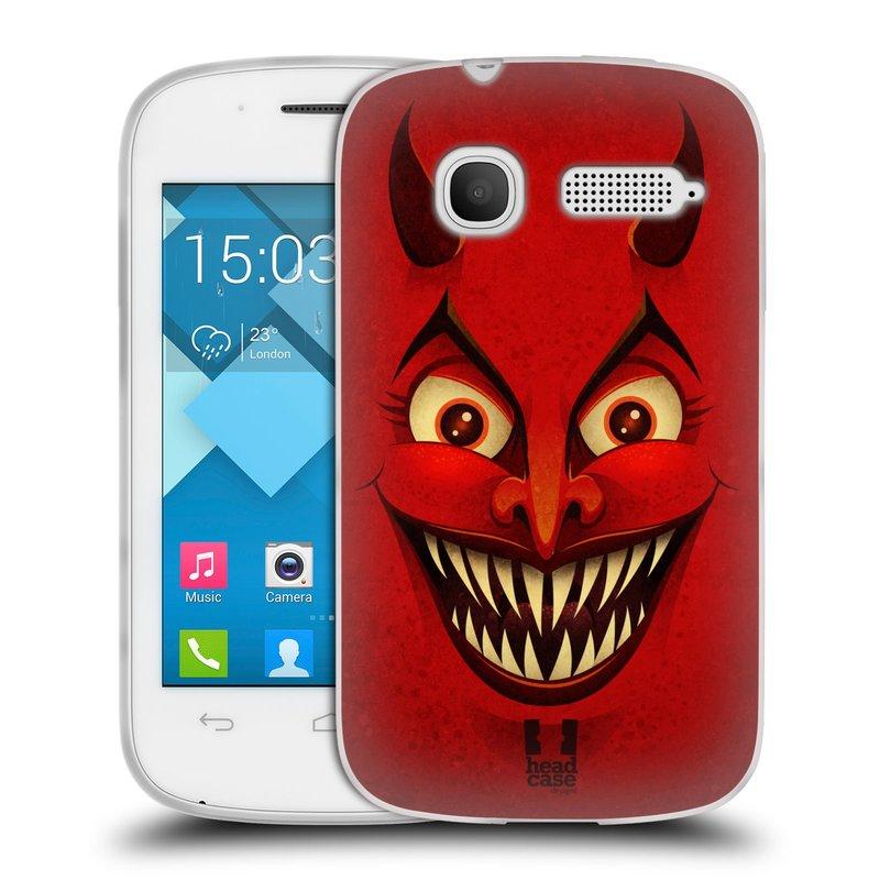 Silikonové pouzdro na mobil Alcatel One Touch Pop C1 HEAD CASE ČERT (Silikonový kryt či obal na mobilní telefon Alcatel OT-4015D POP C1)