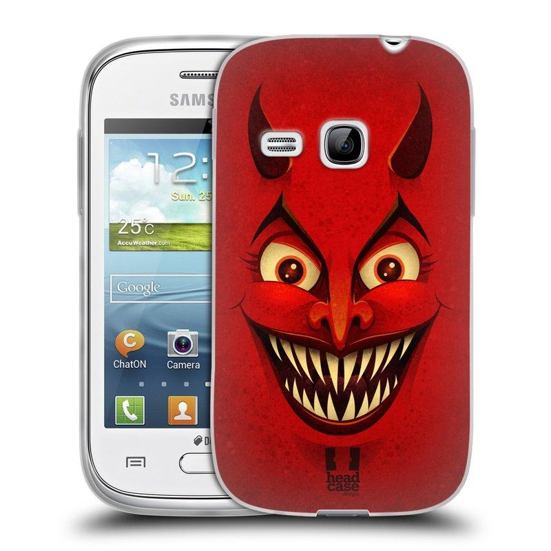 Silikonové pouzdro na mobil Samsung Galaxy Young HEAD CASE ČERT (Silikonový kryt či obal na mobilní telefon Samsung Galaxy Young GT-S6310)