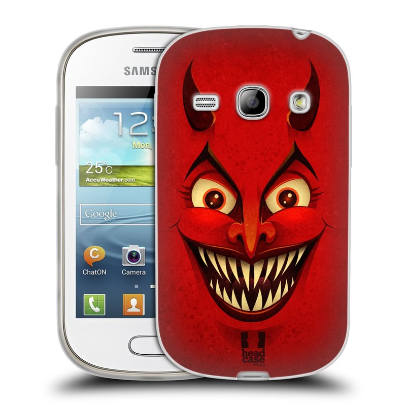 Silikonové pouzdro na mobil Samsung Galaxy Fame HEAD CASE ČERT (Silikonový kryt či obal na mobilní telefon Samsung Galaxy Fame GT-S6810)
