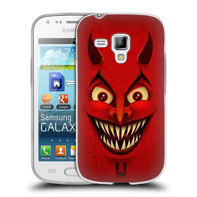 Silikonové pouzdro na mobil Samsung Galaxy Trend Plus HEAD CASE ČERT (Silikonový kryt či obal na mobilní telefon Samsung Galaxy Trend Plus GT-S7580)
