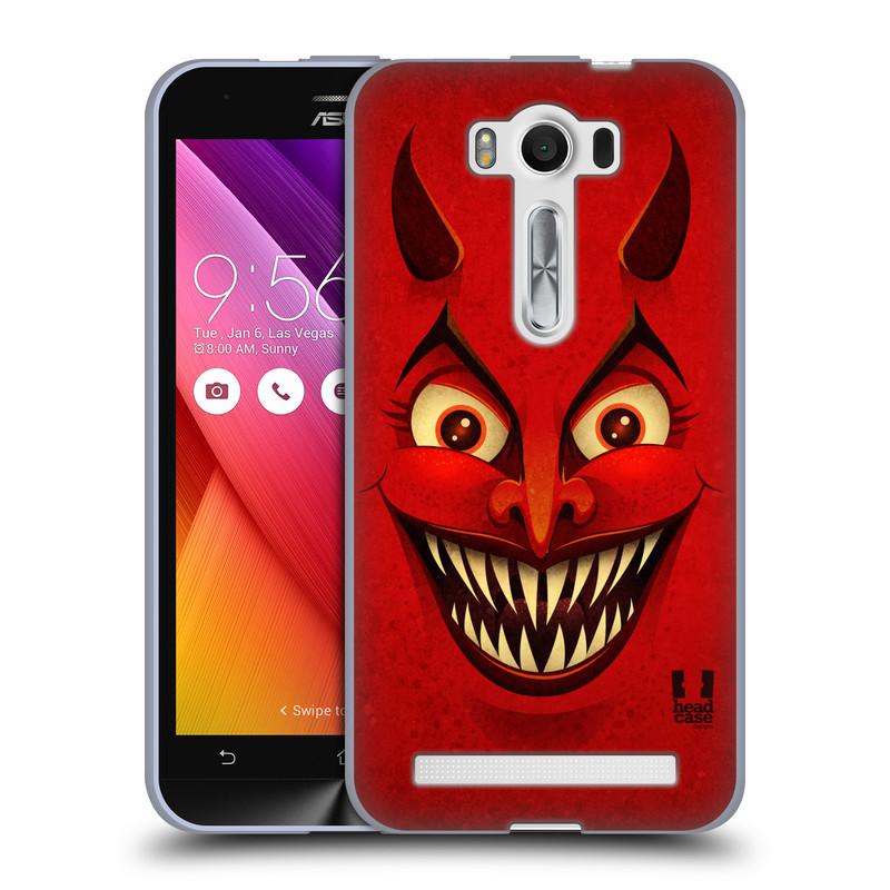 """Silikonové pouzdro na mobil Asus ZenFone 2 Laser ZE500KL HEAD CASE ČERT (Silikonový kryt či obal na mobilní telefon Asus ZenFone 2 Laser ZE500KL s 5"""" displejem)"""