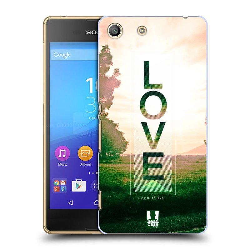 Plastové pouzdro na mobil Sony Xperia M5 HEAD CASE Láska (Kryt či obal na mobilní telefon Sony Xperia M5 Aqua)