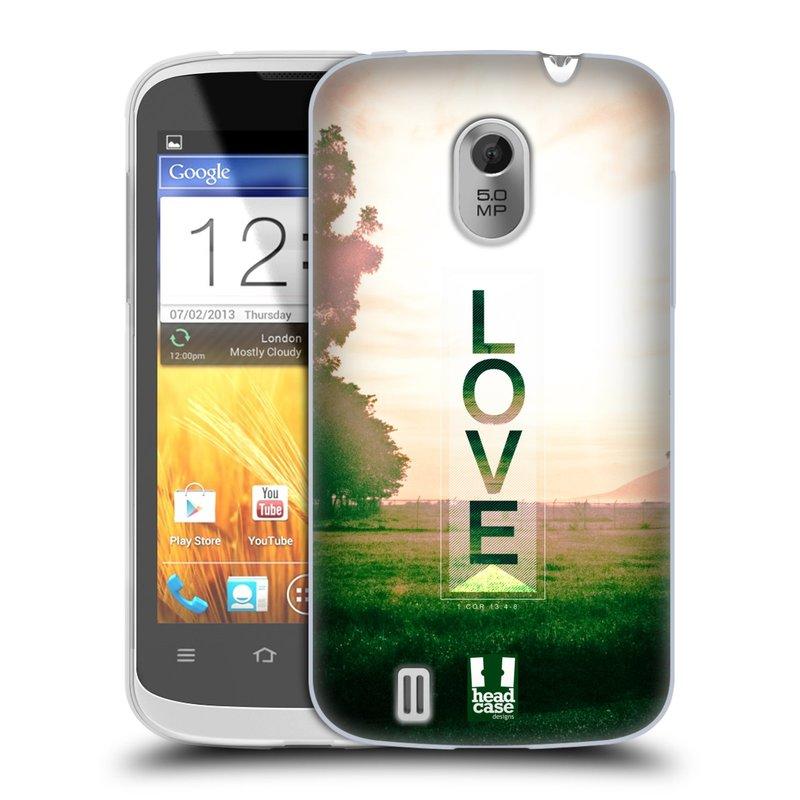 Silikonové pouzdro na mobil ZTE Blade III HEAD CASE Láska (Silikonový kryt či obal na mobilní telefon ZTE Blade 3)