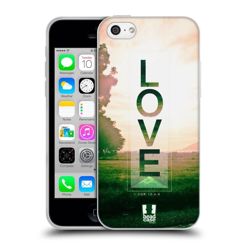 Silikonové pouzdro na mobil Apple iPhone 5C HEAD CASE Láska (Silikonový kryt či obal na mobilní telefon Apple iPhone 5C)
