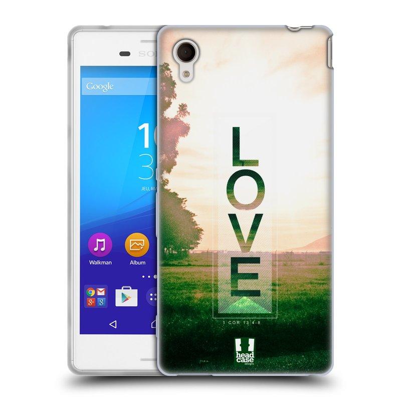 Silikonové pouzdro na mobil Sony Xperia M4 Aqua E2303 HEAD CASE Láska (Silikonový kryt či obal na mobilní telefon Sony Xperia M4 Aqua a M4 Aqua Dual SIM)