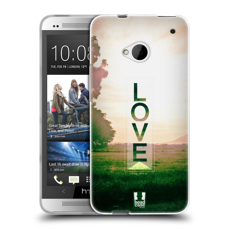Silikonové pouzdro na mobil HTC ONE M7 HEAD CASE Láska (Silikonový kryt či obal na mobilní telefon HTC ONE M7)