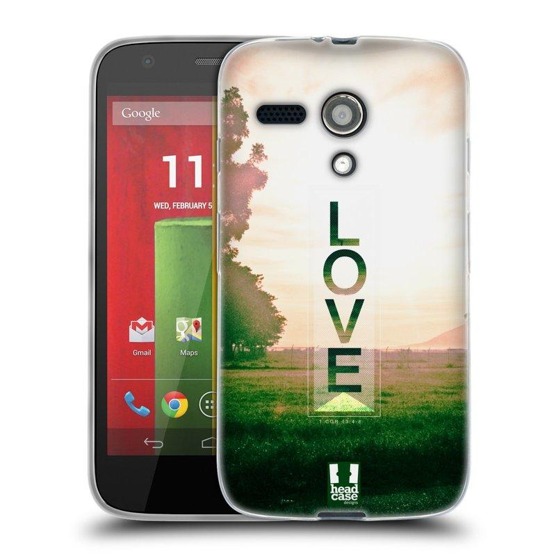 Silikonové pouzdro na mobil Motorola Moto G HEAD CASE Láska (Silikonový kryt či obal na mobilní telefon Motorola Moto G)