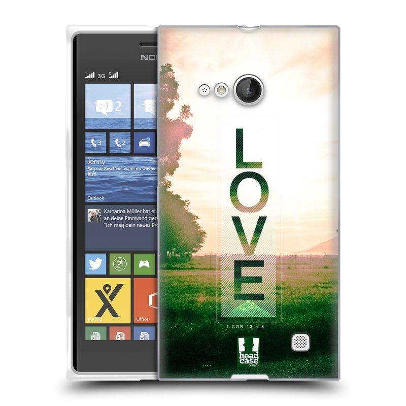 Silikonové pouzdro na mobil Nokia Lumia 735 HEAD CASE Láska (Silikonový kryt či obal na mobilní telefon Nokia Lumia 735)