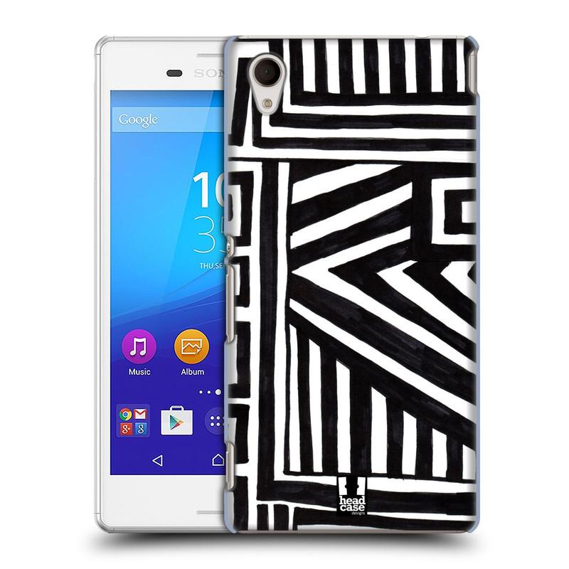 Plastové pouzdro na mobil Sony Xperia M4 Aqua E2303 HEAD CASE DOODLE GEOMETRIC (Kryt či obal na mobilní telefon Sony Xperia M4 Aqua a M4 Aqua Dual SIM)