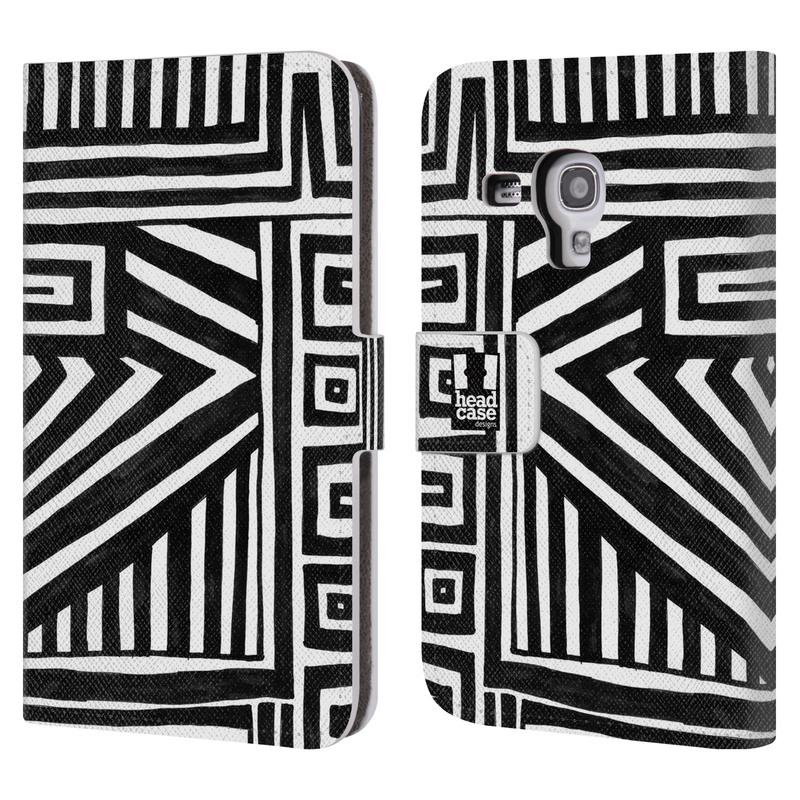 Flipové pouzdro na mobil Samsung Galaxy S III Mini HEAD CASE DOODLE GEOMETRIC (Flipový vyklápěcí kryt či obal z umělé kůže na mobilní telefon Samsung Galaxy S III Mini GT-I8190)