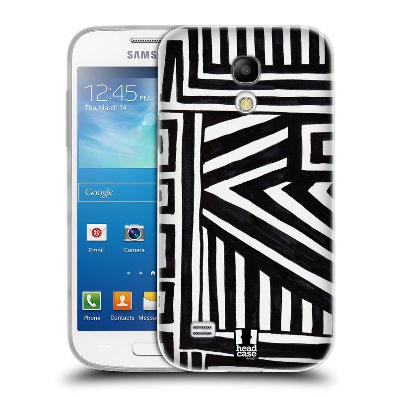 Silikonové pouzdro na mobil Samsung Galaxy S4 Mini VE HEAD CASE DOODLE GEOMETRIC (Silikonový kryt či obal na mobilní telefon Samsung Galaxy S4 Mini VE GT-i9195i (nepasuje na verzi Black Edition))