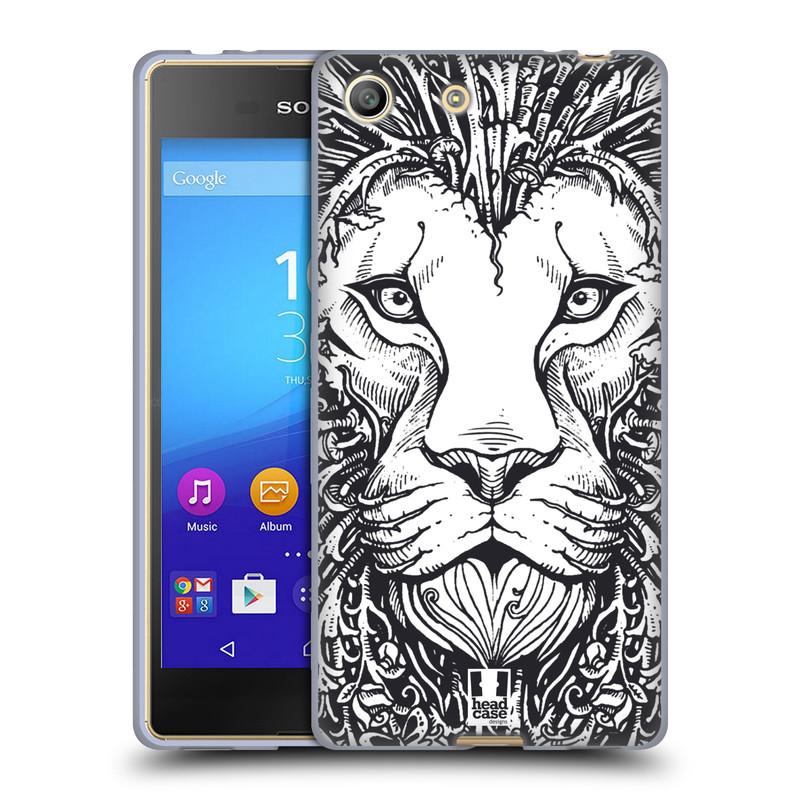 Silikonové pouzdro na mobil Sony Xperia M5 HEAD CASE DOODLE TVÁŘ LEV (Silikonový kryt či obal na mobilní telefon Sony Xperia M5 Dual SIM / Aqua)