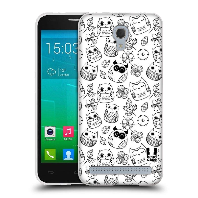 Silikonové pouzdro na mobil Alcatel One Touch Idol 2 Mini S 6036Y HEAD CASE SOVIČKY A KYTIČKY (Silikonový kryt či obal na mobilní telefon Alcatel Idol 2 Mini S OT-6036Y)