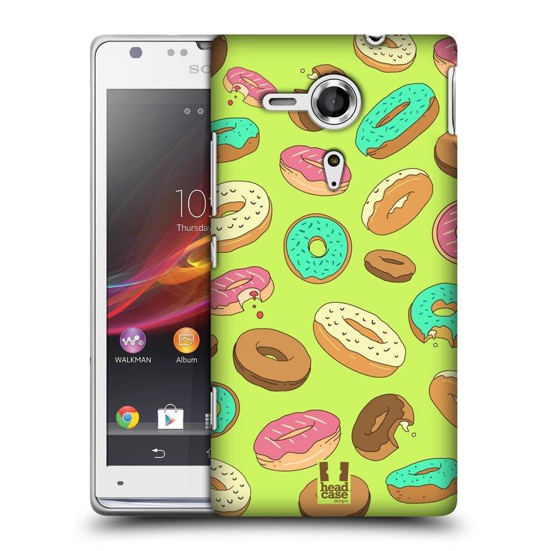 Plastové pouzdro na mobil Sony Xperia SP C5303 HEAD CASE DONUTKY (Kryt či obal na mobilní telefon Sony Xperia SP )