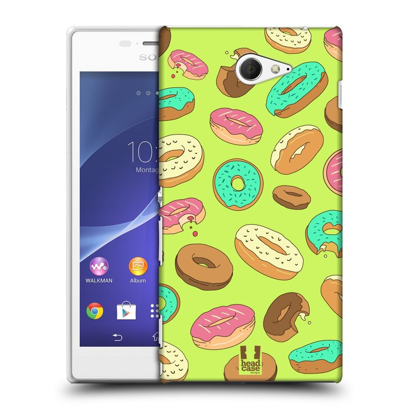 Plastové pouzdro na mobil Sony Xperia M2 D2303 HEAD CASE DONUTKY (Kryt či obal na mobilní telefon Sony Xperia M2 )